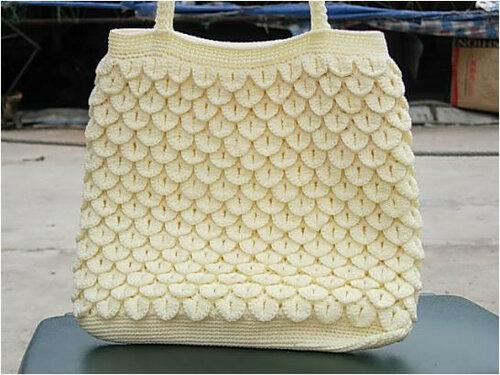 вязание сумок крючком из пакетов.