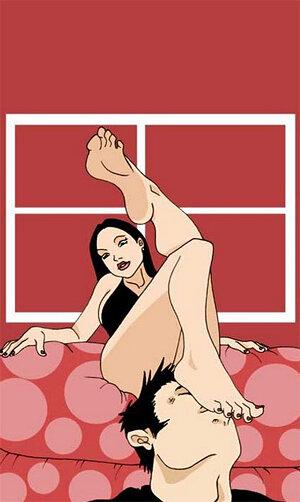 знакомства лизание женских ног