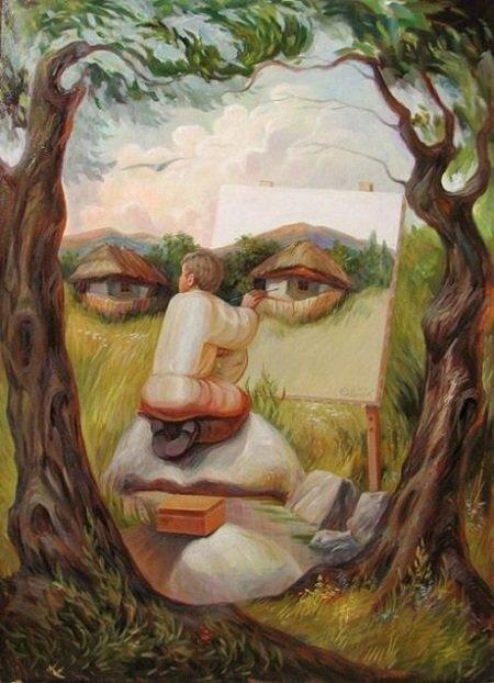 Оптические иллюзии Олега Шупляка. Современный Украинский арт. 20 работ.