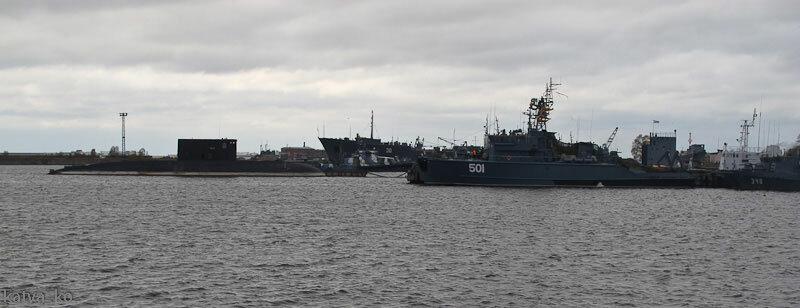 В порту Кронштадта