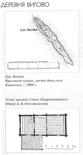 Часовня Спаса Нерукотворного, деревня Вигово, Карелия, план