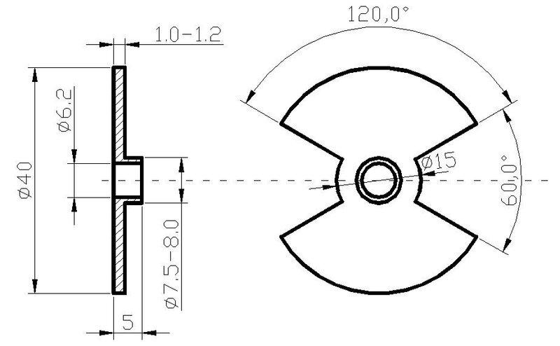 парни, вот собрался сделать модулятор(для бсз) на иж ю-5, нашел 3 чертежа на которых модуляторы разного диаметра.