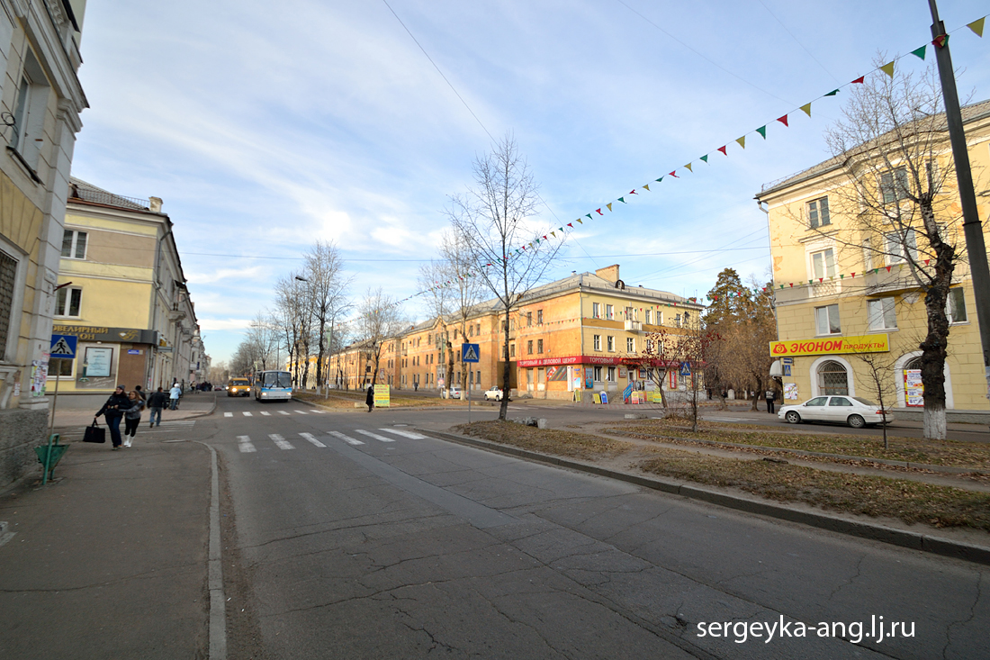 Старые квартала Ангарска