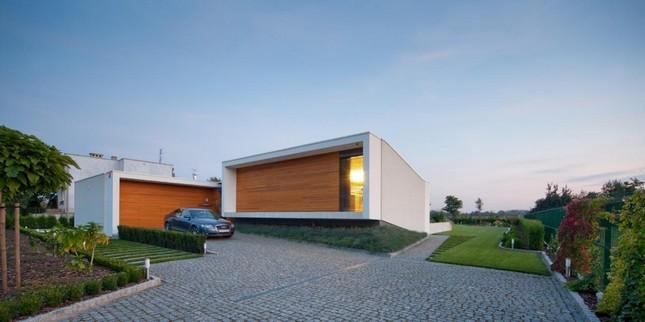 Одноэтажный дом в пригороде Вроцлава, Польша