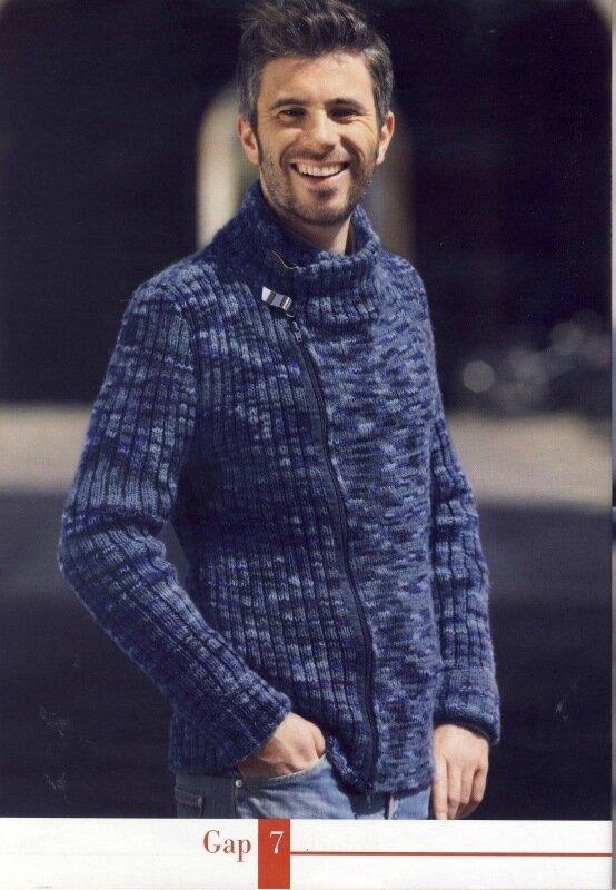 Фотография из галереи Схема вязания мужских варежек спицами.