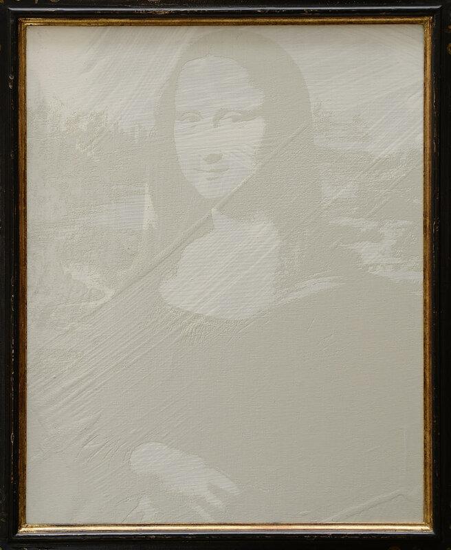 Andy Warhol White on white (reversal series) (1979)