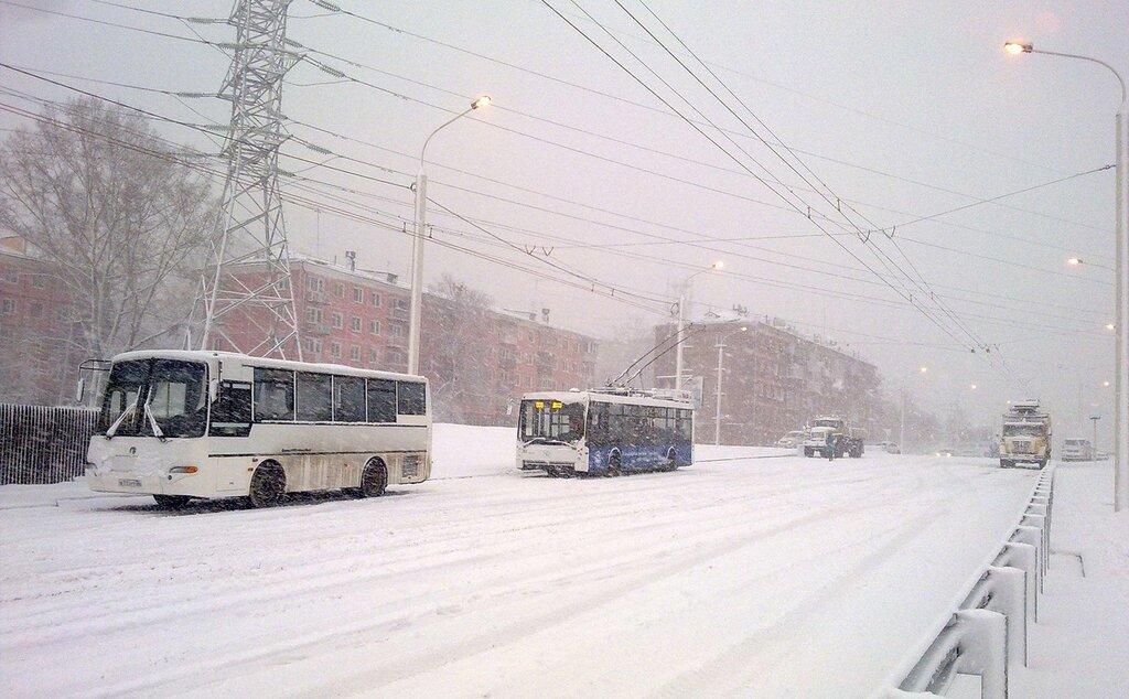 Пробная поездка троллейбуса по