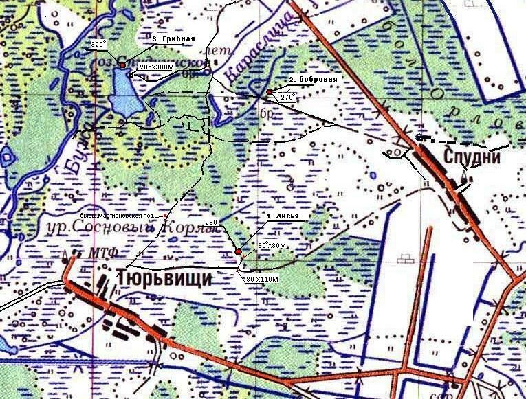 Лесной снайпинг - карта позиций