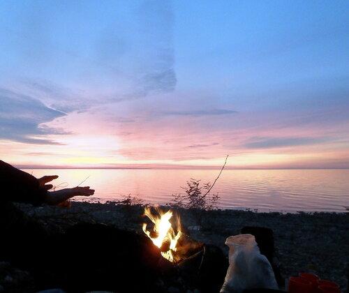 Костёр на закате. 2011-11-08, 2011-12-04