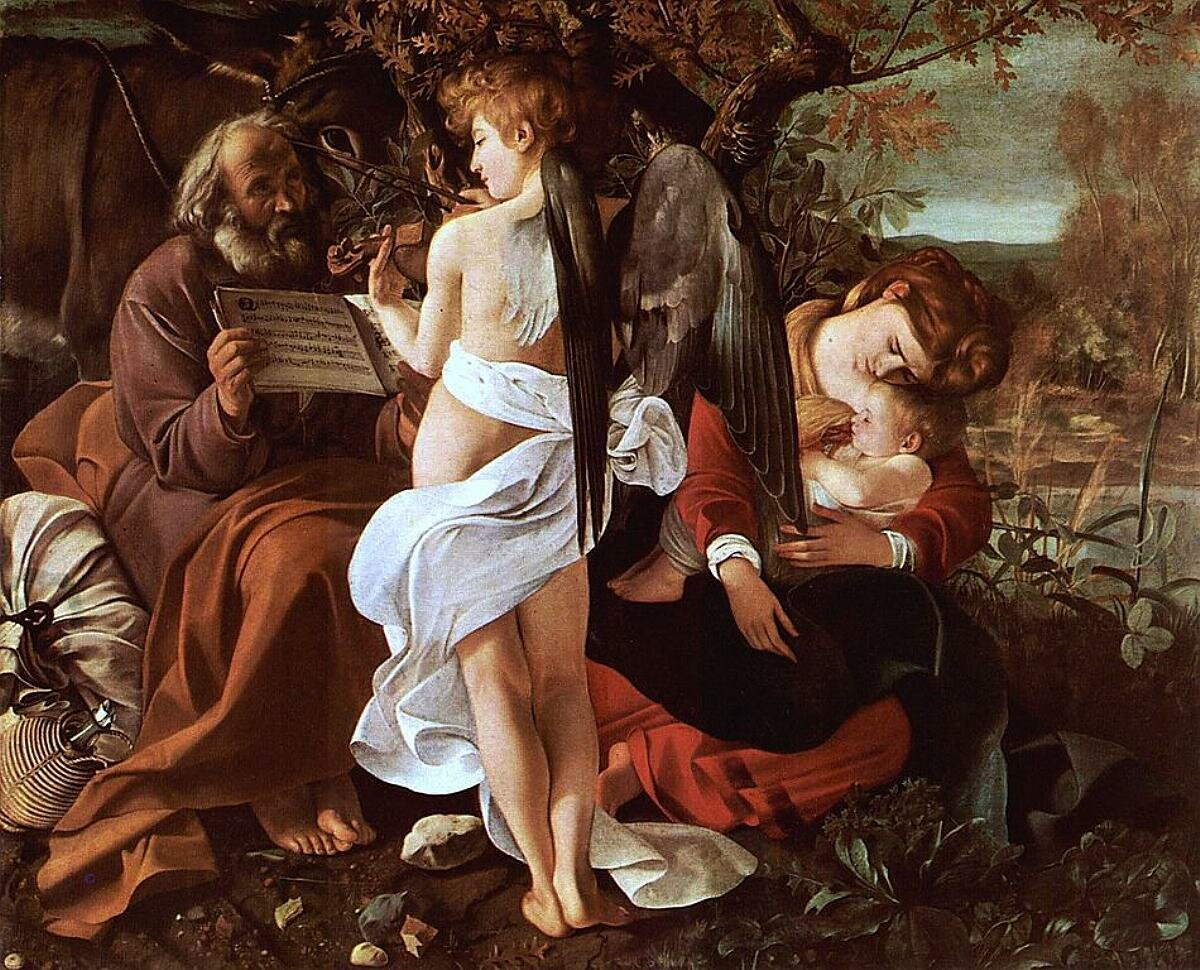 Отдых на пути в Египет. 1596—1597.Караваджо Галерея Дориа-Памфили