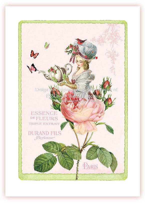 Французские открытки с праздником, ночи