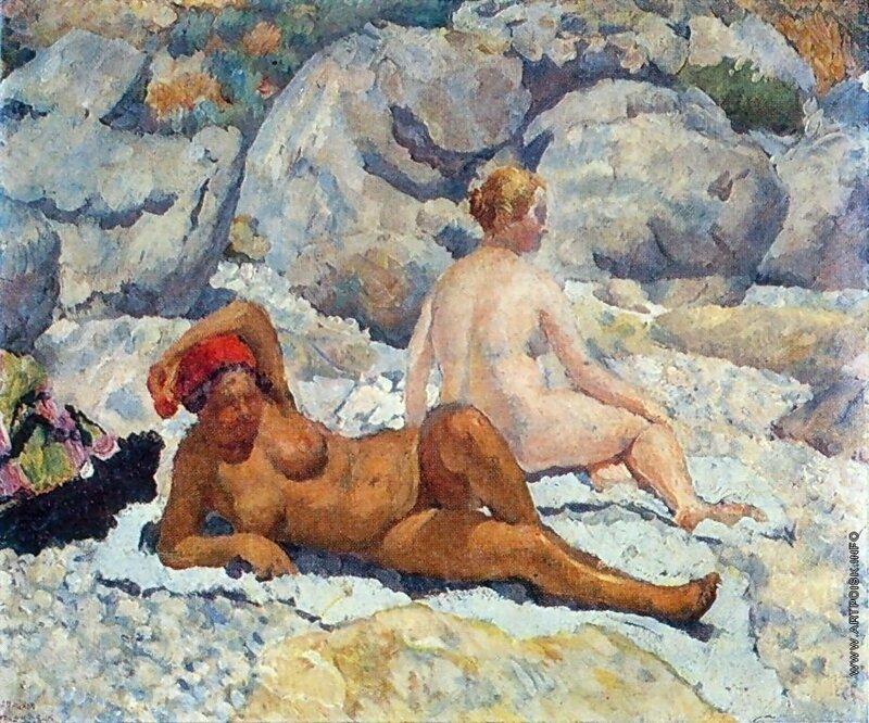 И.И. МАШКОВ. Гурзуф. Женский пляж. 1925.jpg