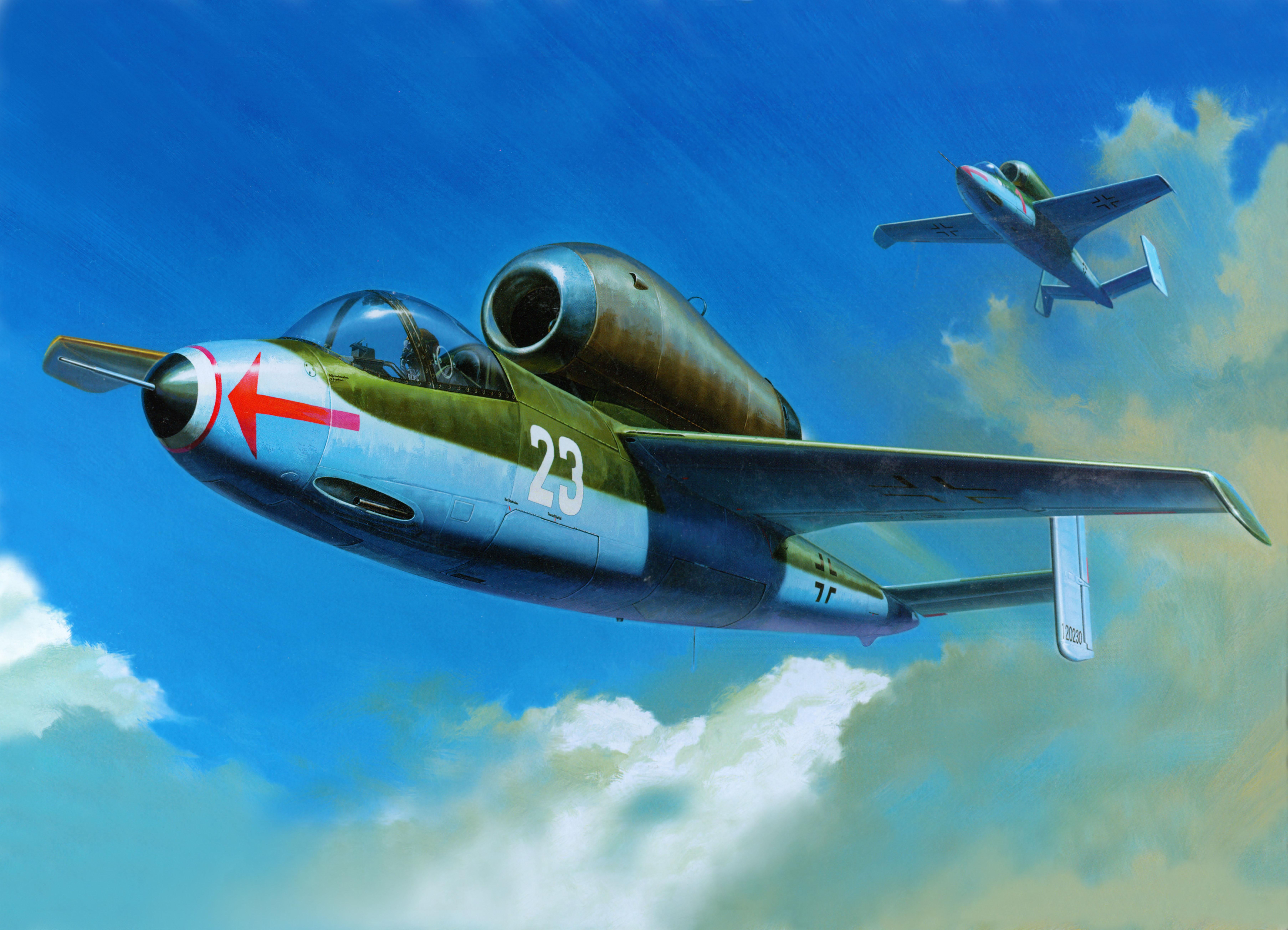 рисунок He-162A Salamander