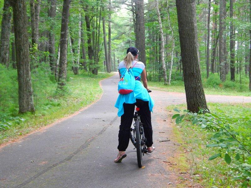 Лето, парк, велосипеды.