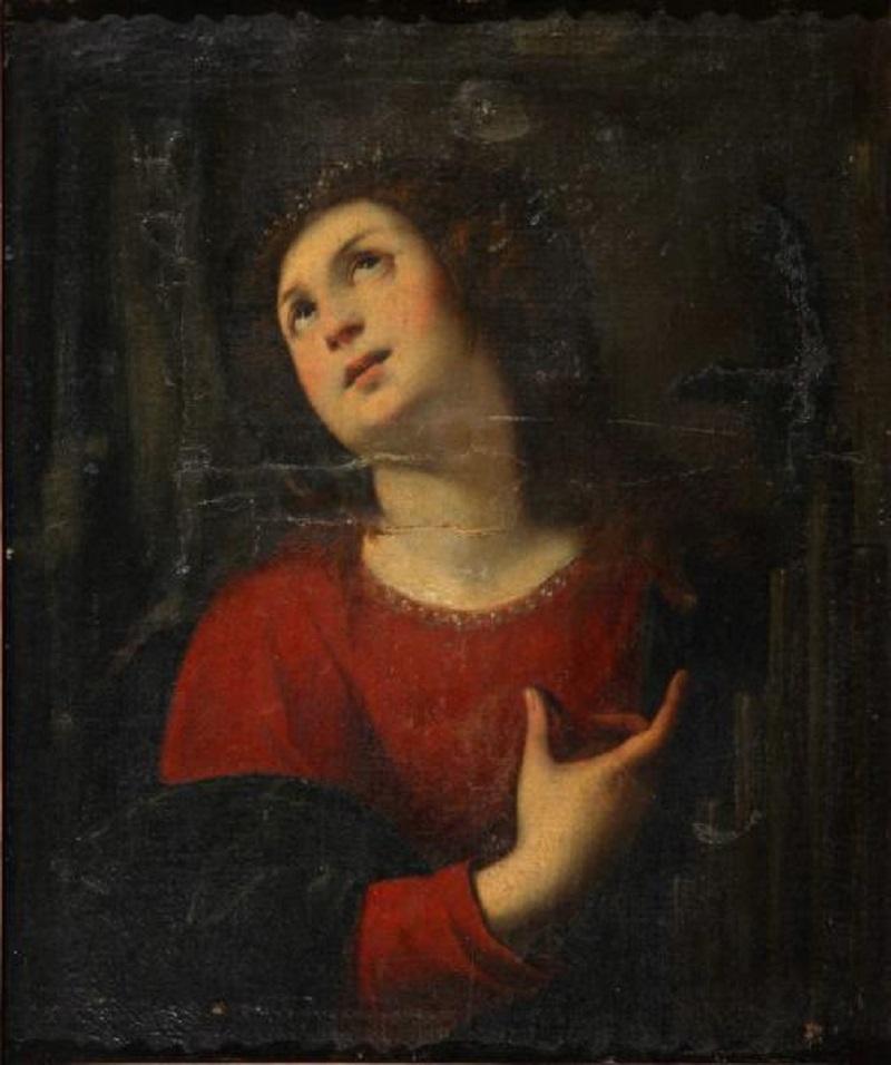 Святая Цецилия Нуволоне, Карло Франческо, прозванный Панфило  автор  1630-е  холст, масло  70х59 см.jpg