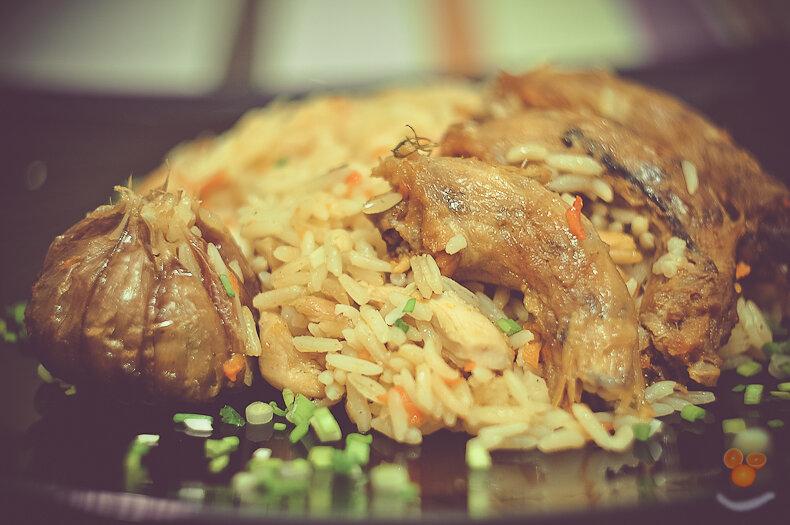 Плов с куриными шейками - рецепт пошаговый с фото