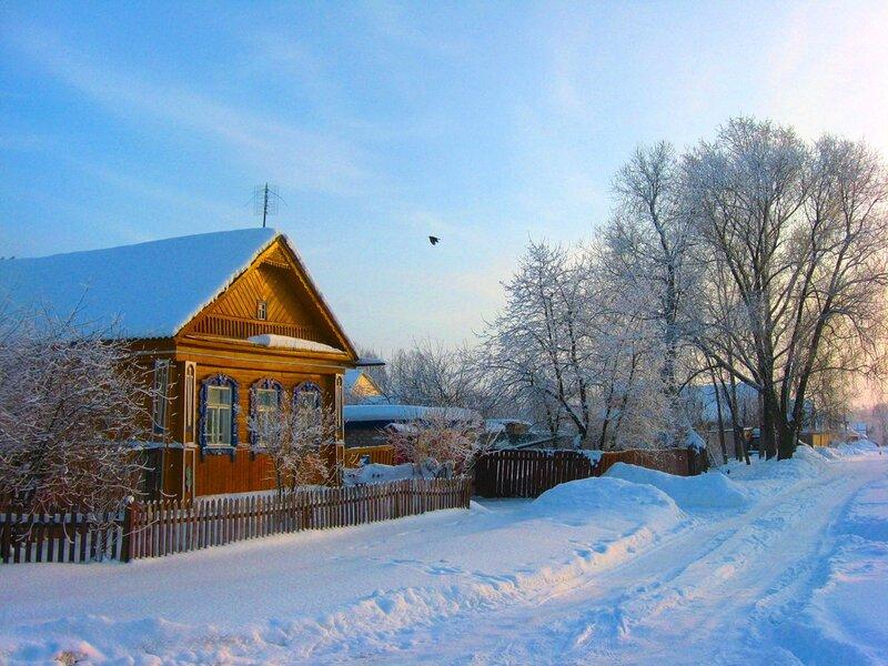 Закат фото зимой