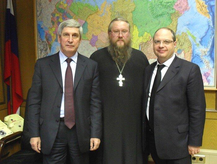 И.И. Мельников, иеромонах Никон и С.А. Гаврилов