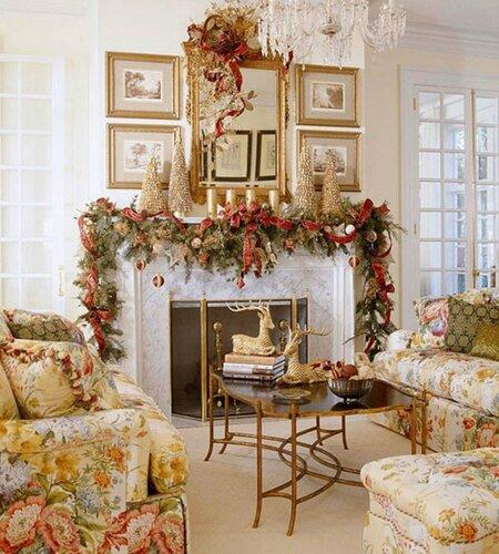 Новогодний декор интерьера