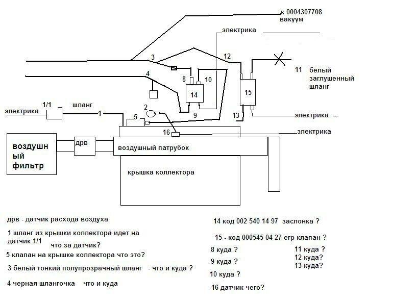 Схема вакуумной системы мерседес фото 239