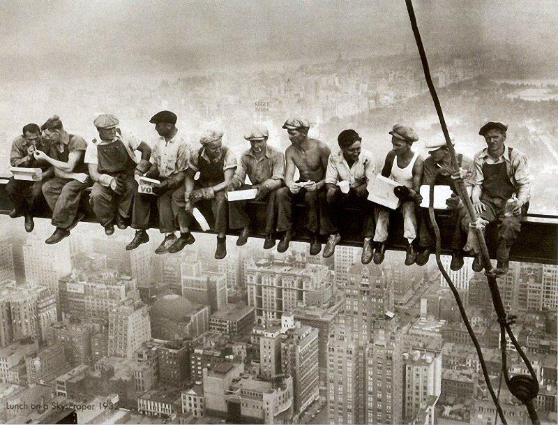 Как строились небоскребы в Нью-Йорке