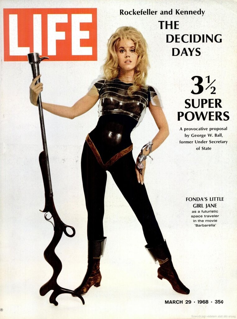 Jane Fonda as Barbarella. Cover photo: Carlo Bavagnoli/Time & Life 1968