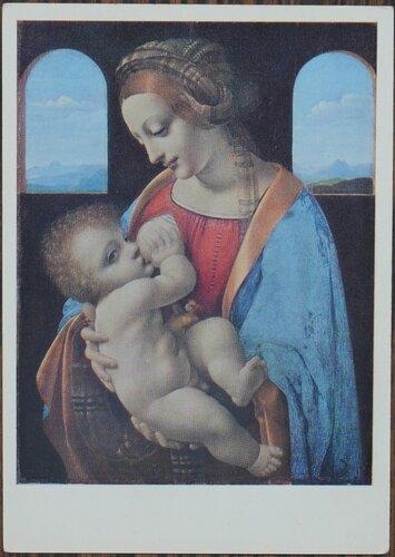 Мадонна с младенцем (Мадонна Литта) Ок. 1490 г.