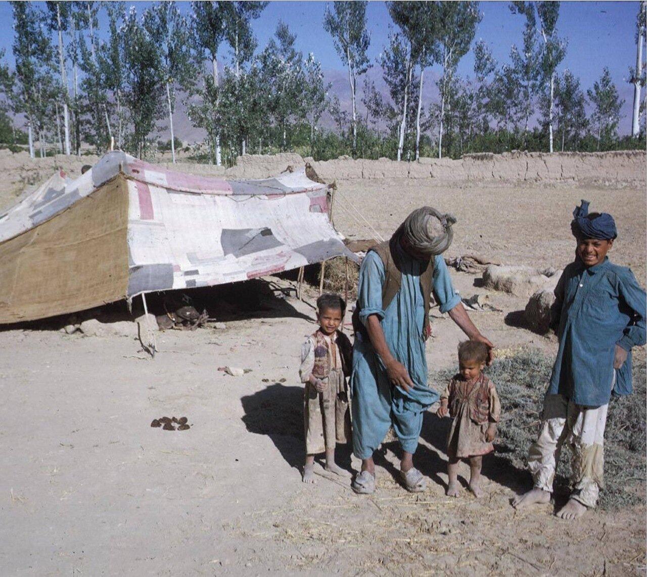 Семья кочевников пуштунов