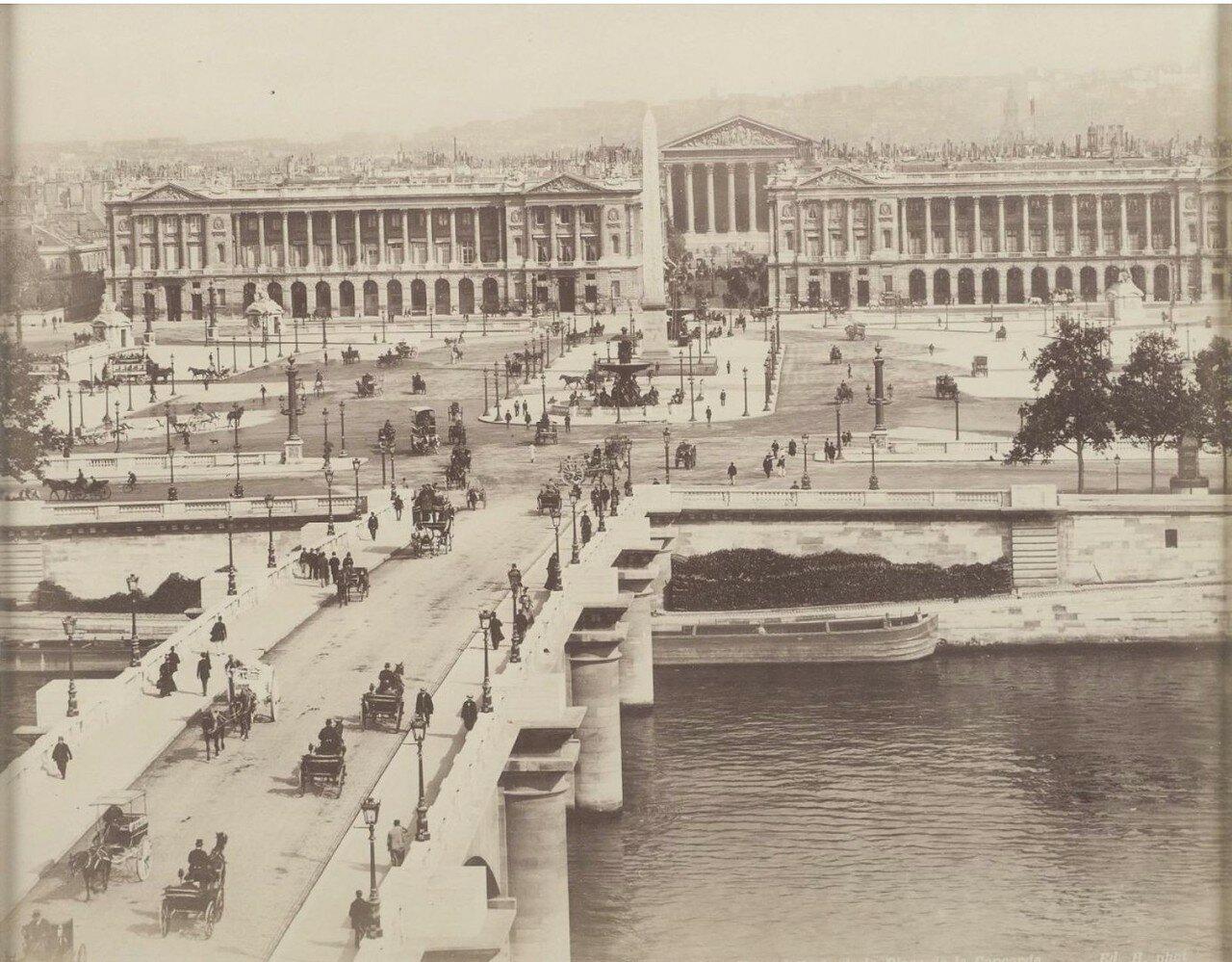 1885. Общий вид площади Согласия