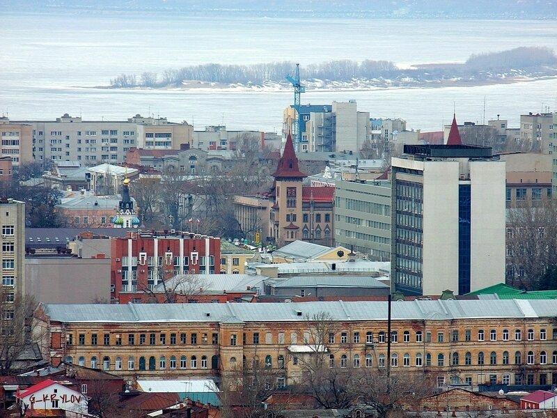 Саратов. Консерватория. Вид с Соколовой горы.