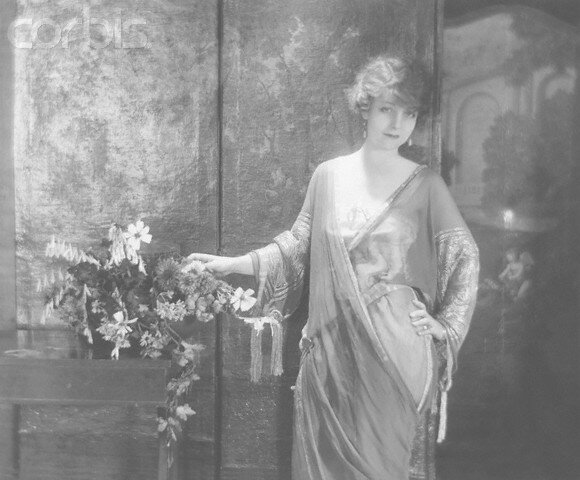Actress Mary Young in Crepe Georgette Dress
