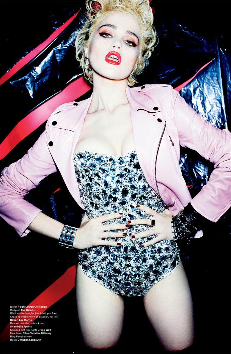 Sky Ferreira / Скай Феррейра в образе Мадонны, фотограф Mario Testino в журнале V Magazine