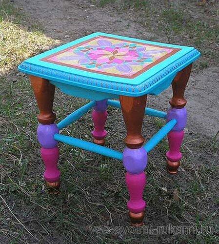 Мамин стул благодаря росписи тоже