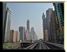ОАЭ. Дубаи. Dubai Sheikh Zayed road metro. Фото Dhanaji Wadakar - shutterstock