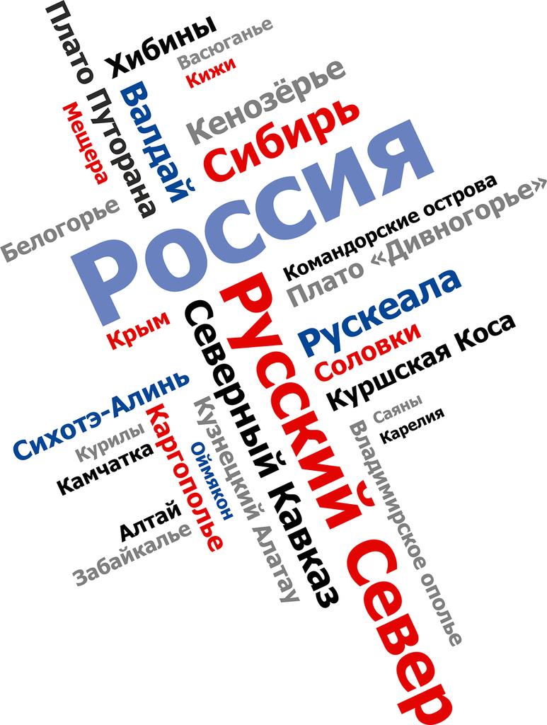 Дизайн футболки. Ландшафты России