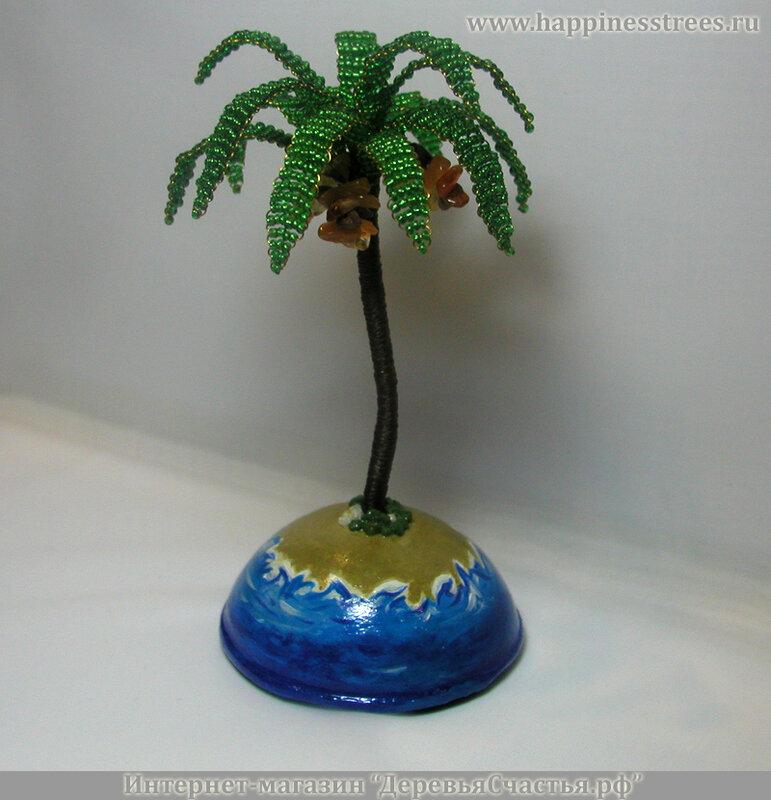 Интернет-магазины, где купить Пальма из бисера и камней-самоцветов.  Пальма из натуральных камней сердолика...