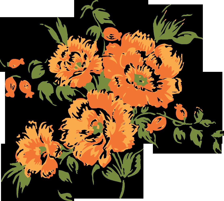 Пнг цветы нарисованные