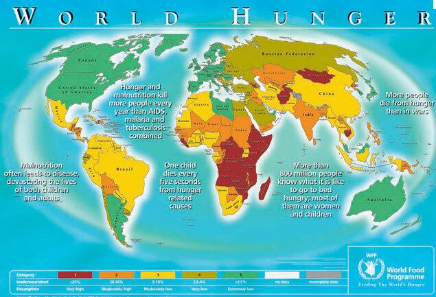 Карта мирового голода