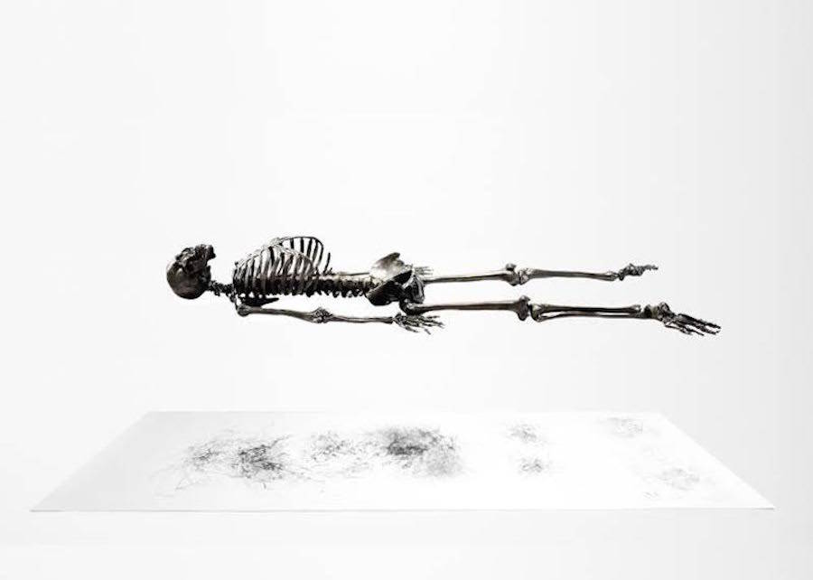 Vibrating Self-Drawing Graphite Skeleton (6 pics)