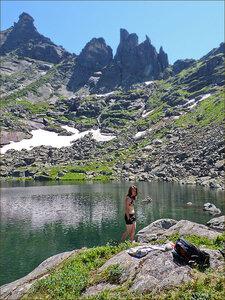 Алсу на озере Сказка
