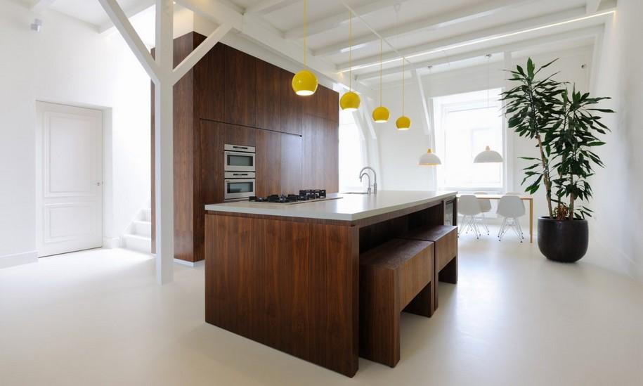 Современный дизайн небольшой квартиры в Амстердаме