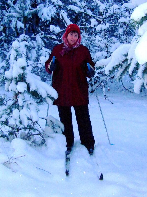 Галка на лыжах