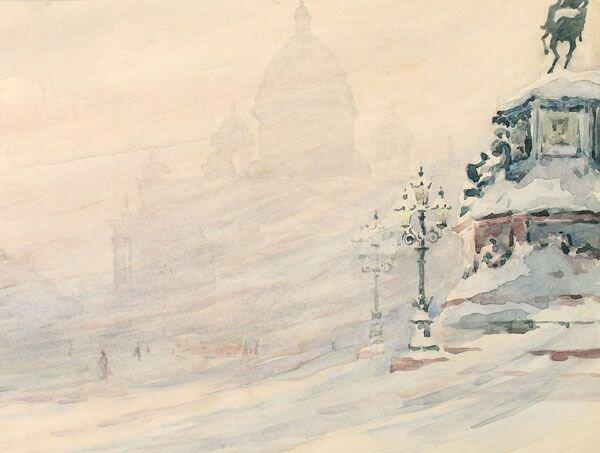 А. А. Ромодановская. Исаакиевский собор. 1958