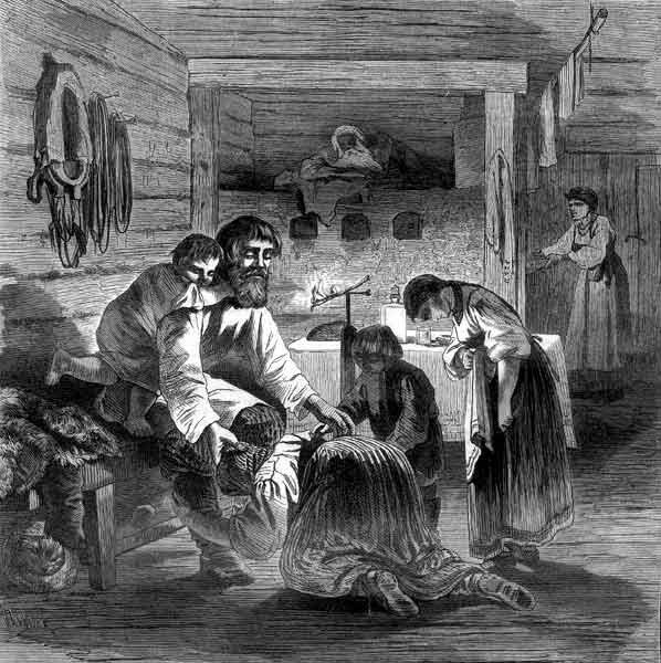 Масленица. Прощеный день в крестьянской семье.