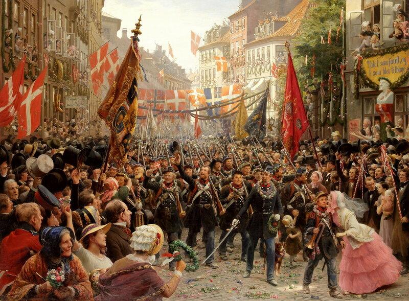 Отто Бахе. «Датские солдаты возвращаются в Копенгаген. 1849»