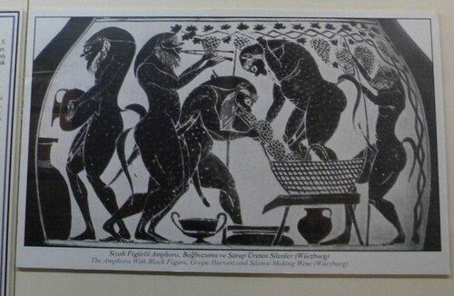 Сатиры - изображение с античной вазы