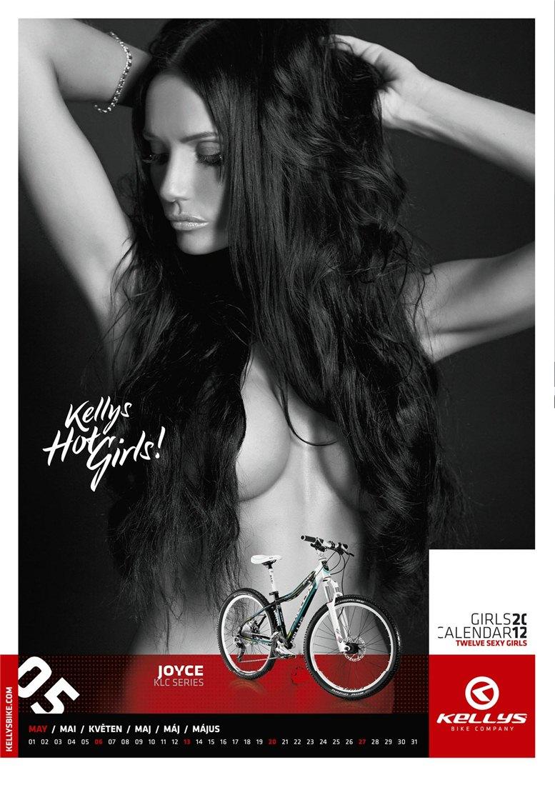 Обнаженные девушки в календаре производителя велосипедов Kellys на 2012 год - май