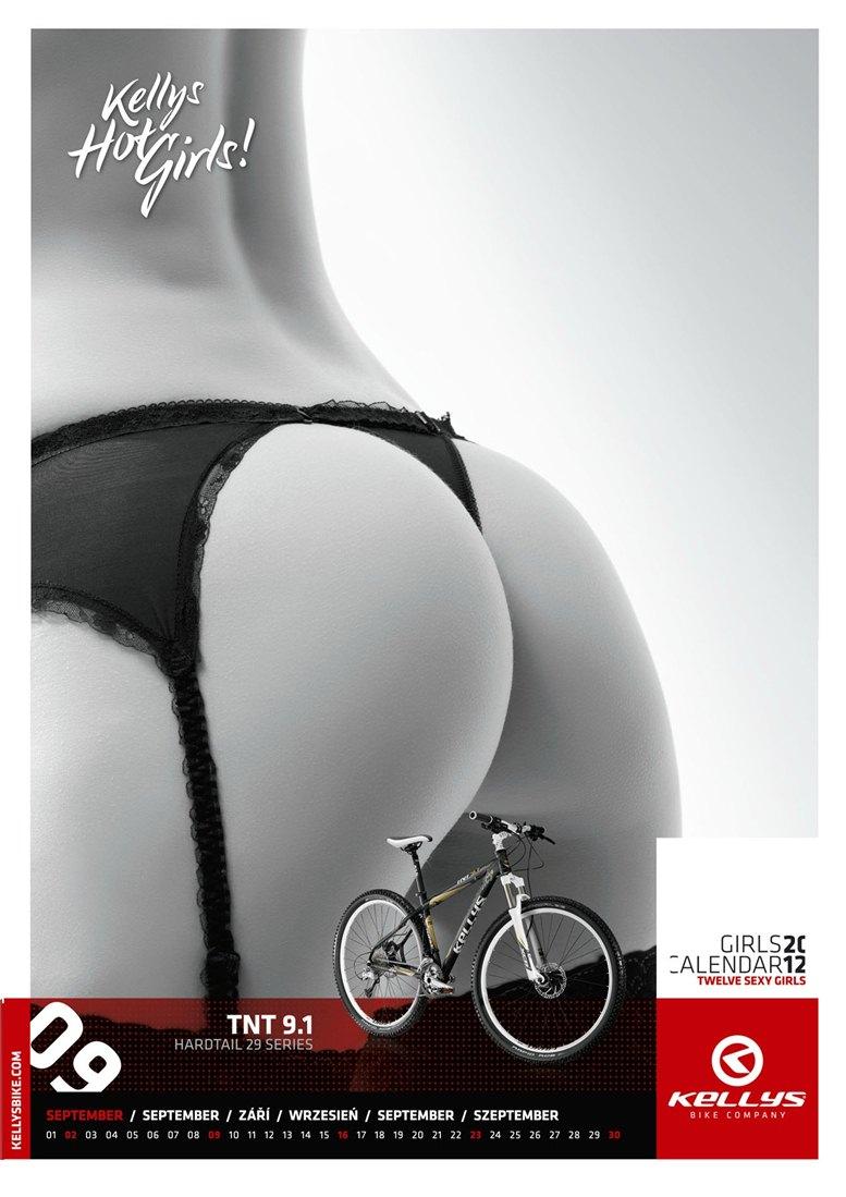 Обнаженные девушки в календаре производителя велосипедов Kellys на 2012 год - сентябрь