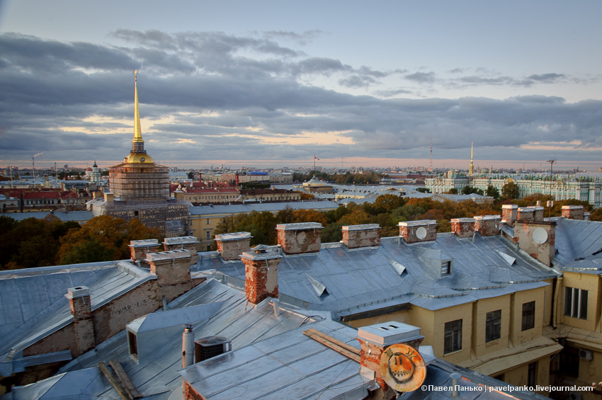 панько pavelpanko Питер Петербург город закат крыша