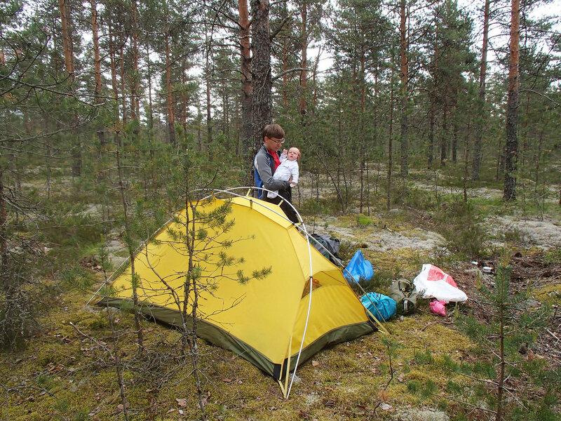 ночевка в палатке с двухмесячным ребенком